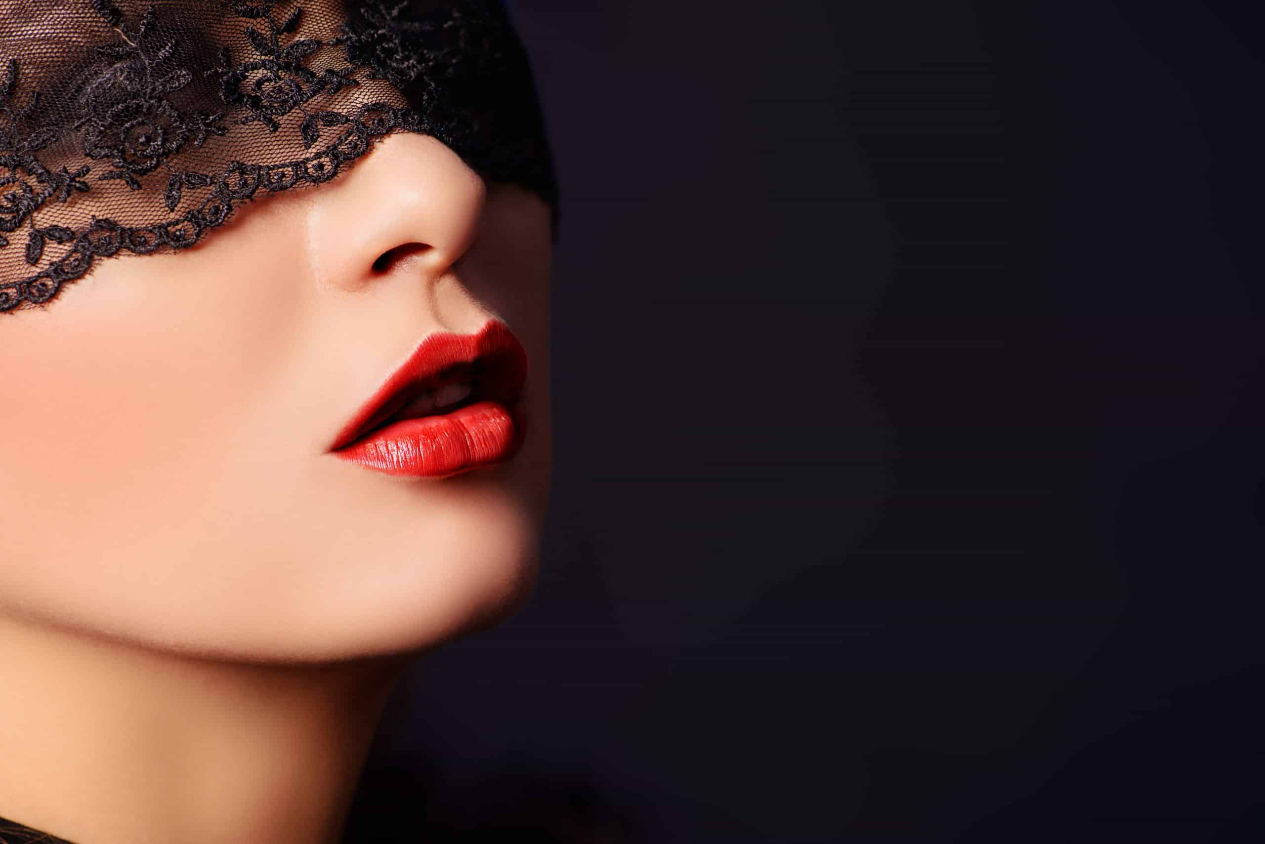 Viennas secret model with hot red lips
